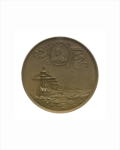 Medal commemorating the visit of Kaiser Wilhelm II, 1889; reverse by Lauer Bros.