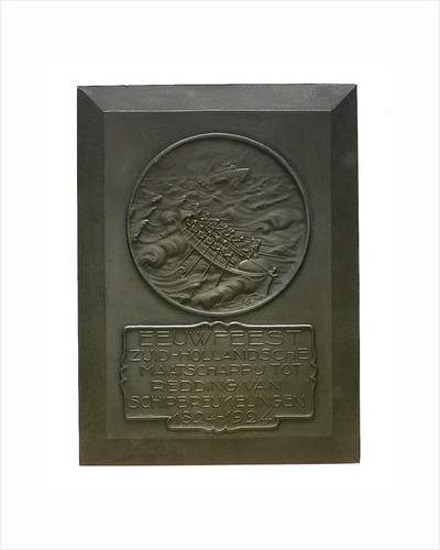Medal commemorating the centenary of the Dutch Society for Saving Life from Shipwreck, 1924; obverse by E.H.