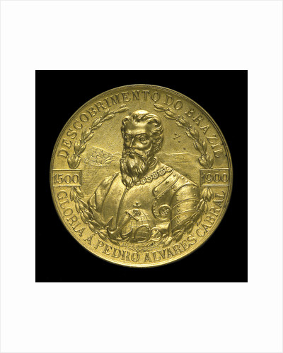 Medal commemorating the 4th centenary of the discovery of Brazil, 1900; obverse by Lauer Bros.