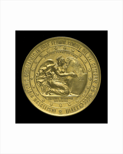 Medal commemorating the 4th centenary of the discovery of Brazil, 1900; reverse by Lauer Bros.