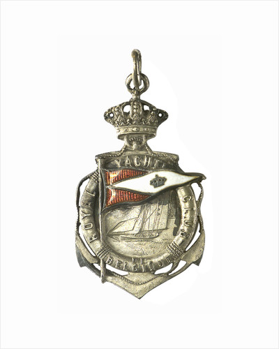 Badge commemorating the Royal Yacht Club of Belgium; obverse by P. Fisch