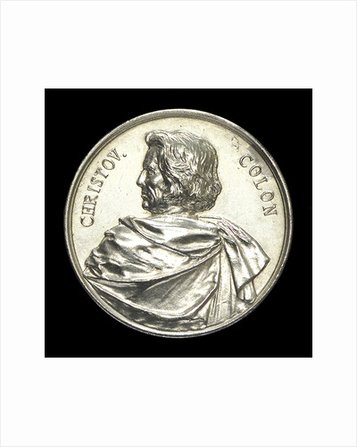 Medal commemorating Christopher Columbus (1451-1506) and the fourth centenary of the discovery of America, 1892; obverse by Lauer Bros.