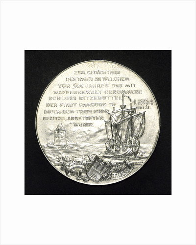 Medal commemorating the Union of Hamburg and the Castle of Ritzeb by J. Langa