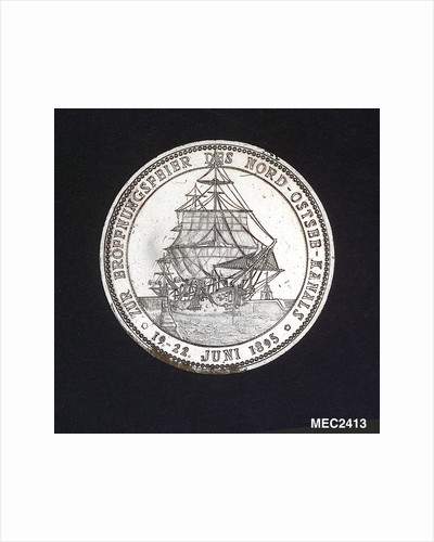 Medal commemorating the opening of the Kiel Canal, 1895; obverse by Lauer Bros.