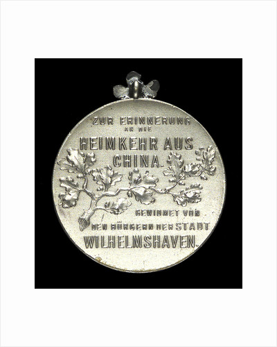Medal commemorating the return of Count Waldersee from China, 1901; reverse by unknown