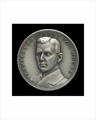 Medal commemorating Captain-Lieutenant Helmuth von Mücke (1881-1957) and the cruiser 'Emden' by M. & W.