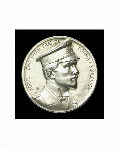 Medal commemorating Captain Count Dohna-Schlodien of SMS 'Moewe'; obverse by B.H. Mayer