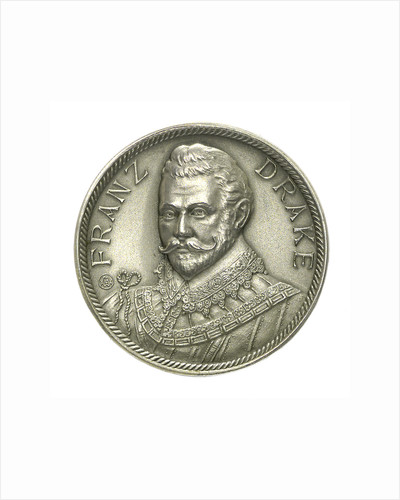 Medal commemorating Sir Francis Drake and the Atlantic crossing; obverse by M.U.W.
