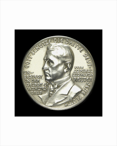Medal commemorating the scuttling of the German fleet, 1919; obverse by unknown