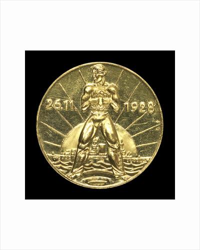 Medal commemorating Admiral Rheinhold von Scheer (1863-1928); reverse by unknown