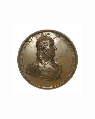 Medal commemorating Captain Jacob Jones and the action between USS 'Wasp' and HMS 'Frolic', 1812; obverse by Moritz Furst