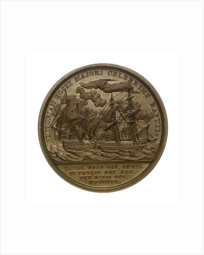 Medal commemorating Captain Jacob Jones and the action between USS 'Wasp' and HMS 'Frolic', 1812; reverse by Moritz Furst