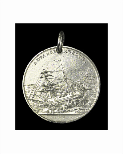 Medal commemorating the Grinnell Arctic Expedition, 1851; obverse by G.H. Lovett