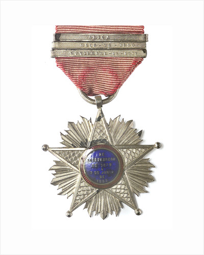 Medal commemorating the Tacna and Arica campaign, 1879-1880; reverse by unknown