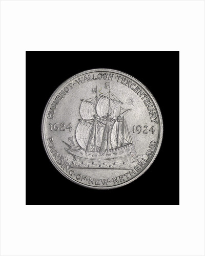 Coin commemorating the Huguenot-Walloon Tercentenary, 1924; reverse by unknown
