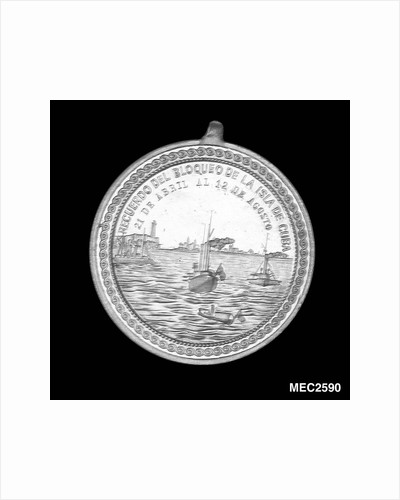 Medal commemorating the blockade of Cuba, 1898 by unknown