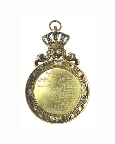 Pendant medallion presented to Captain Stone, 1891 of the 'Pegasus'; reverse by unknown