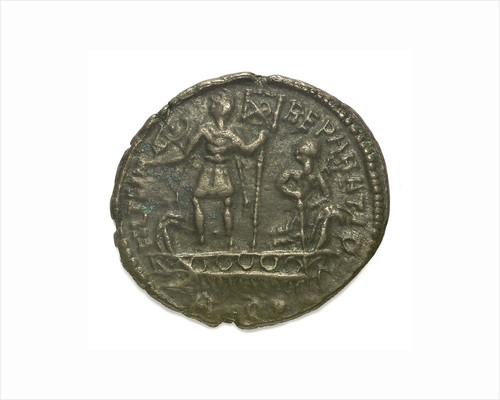 Classical coin - Nummus; reverse by Aquileia Mint
