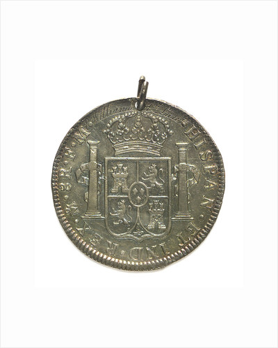 Engraved coin - eight reales; reverse by unknown
