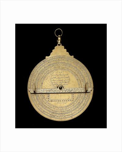 Astrolabe: dismounted reverse by Muhammad ibn Ahmad al-Battuti