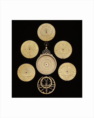 Astrolabe: dismounted obverse by Muhammad Muqim ibn Mulla 'Isa