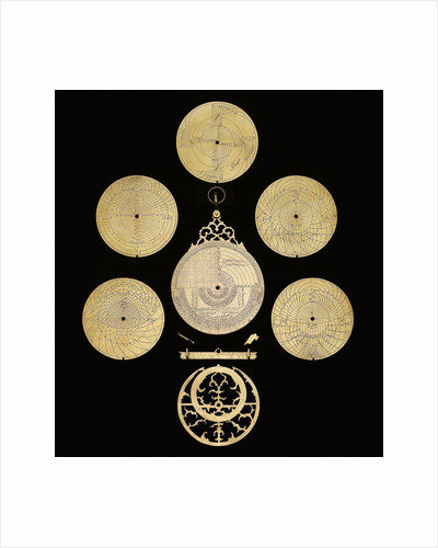 Astrolabe: dismounted reverse by Muhammad Muqim ibn Mulla 'Isa