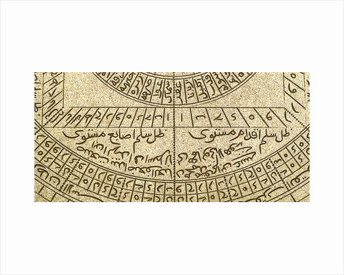 Astrolabe: detail below shadow square by Muhammad Muqim ibn Mulla 'Isa