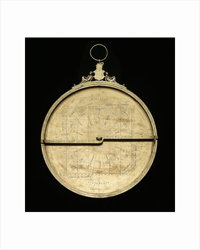 Astrolabe: mounted obverse without rete by Adrian Descroli