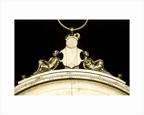 Astrolabe: detail of throne by Adrian Descroli