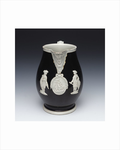 Jug with a portrait of Admiral Sir George Brydges Rodney (1719-1792) by unknown