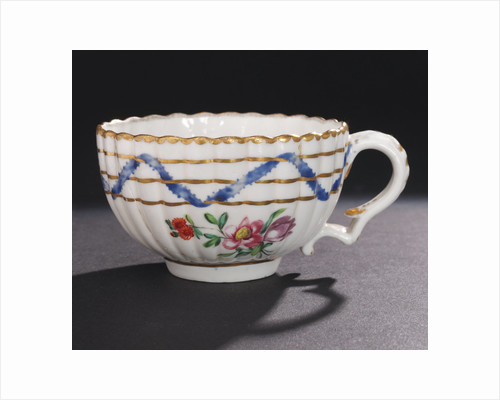 Teacup, part of a tea service reputedly belonging to Vice-Admiral Horatio Nelson (1758-1805) by Richard Champion