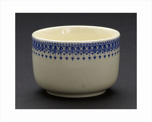Earthenware sugar bowl by unknown