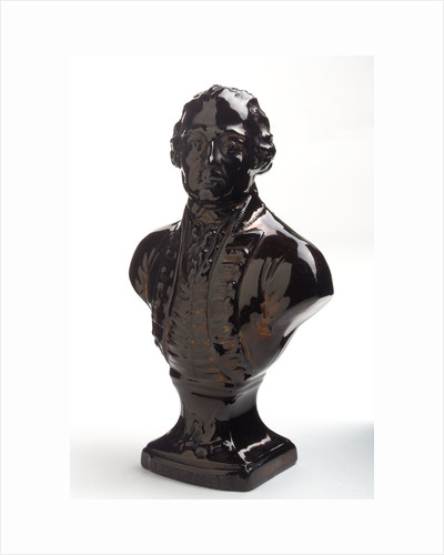 Earthenware bust by unknown