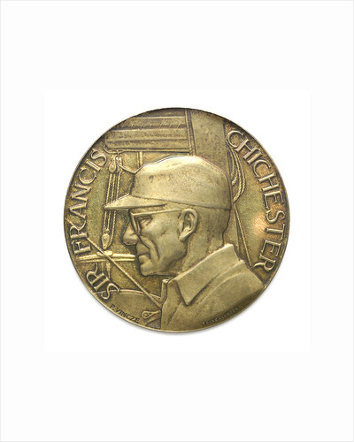 Commemorative medal depicting Sir Francis Chichester (1901-1972) and 'Gypsy Moth IV'; obverse by Spink & Son Ltd.