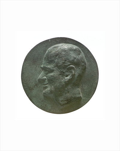 Commemorative medal depicting HRH The Duke of Edinburgh, NMM Trustee 1948-1984; obverse by unknown