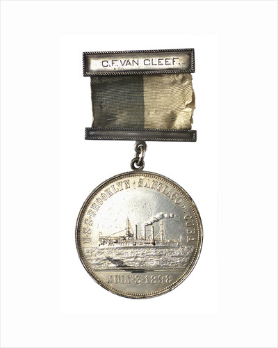 Medal commemorating the destruction of the Spanish fleet, 1898; obverse by unknown