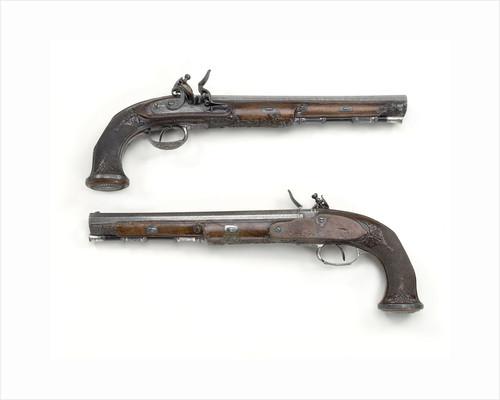 Flintlock pistols by Tatham & Egg
