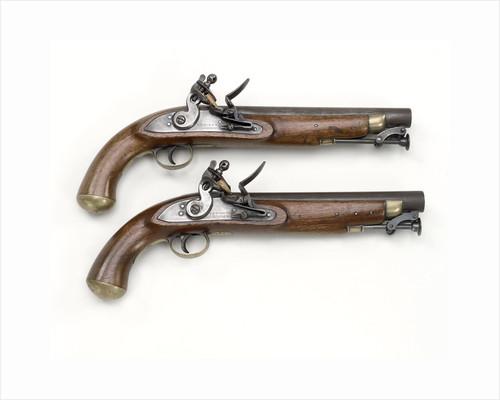 Flintlock pistols by E. & W. Bond