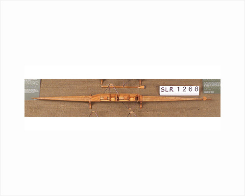 Full hull model, racing pair shell, port broadside by unknown