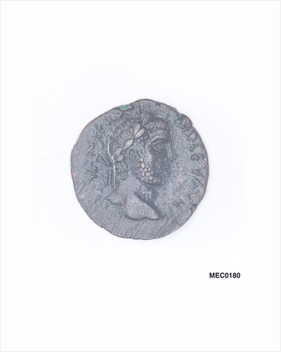 Classical coin depicting Emperor Caracalla and a galley by unknown