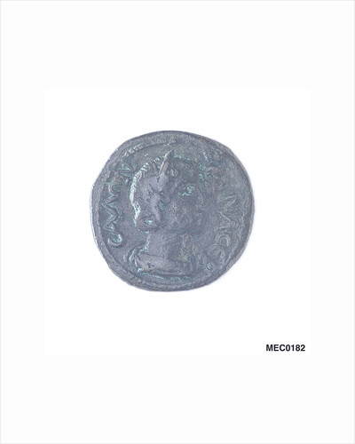 Classical coin depicting Salonina and a Roman galley by unknown