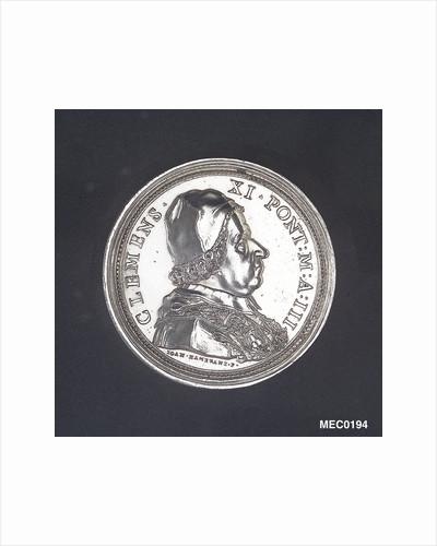 Medal commemorating the Aqueduct of Civitavecchia, 1703 by G. Hamerani