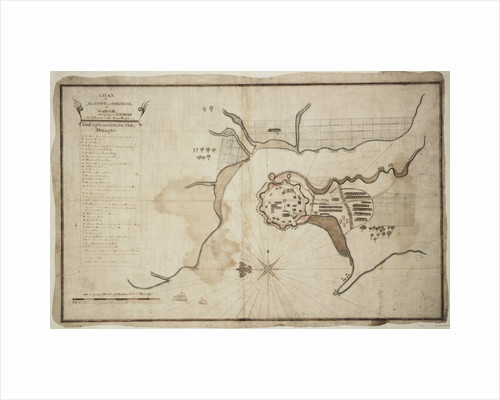 Plan of town and fortress of Gariah by unknown