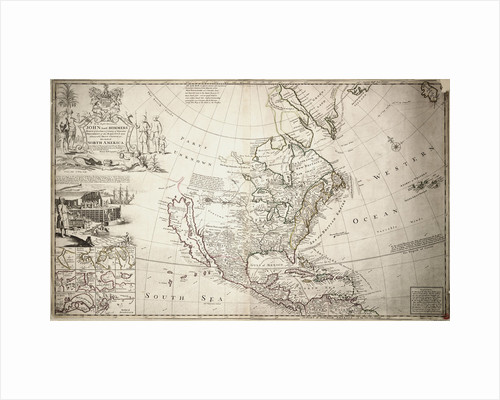 Map of North America by Herman Moll