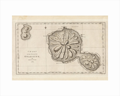 Chart of the Island Otaheite (Tahiti) by James Cook, 1769 by James Cook