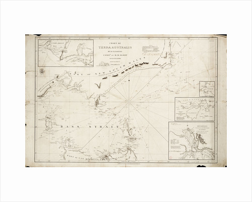 Chart of Bass Strait by Matthew Flinders, 1798 by Matthew Flinders