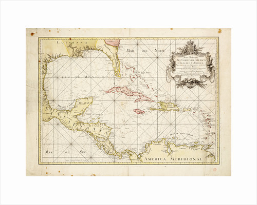 Gulf of Mexico chart by de la Cruz by Thomas Lopez