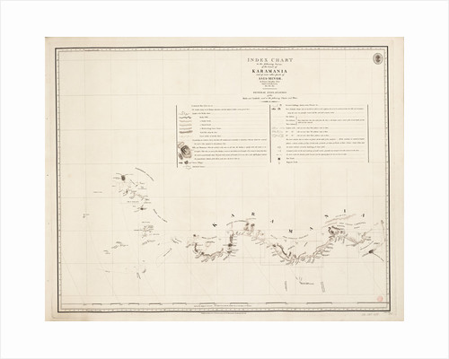 Index chart to the following survey of the coast of Karamania by Francis Beaufort