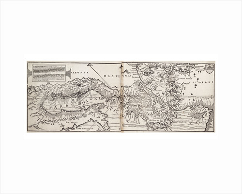 Vavassore chart of the Mediterranean Sea, believed to be the earliest surviving printed chart, 1541 by Giovanni Andrea Di Vavassore