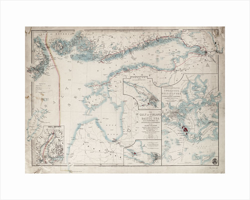 Chart of Gulf of Finland and Baltic by James Wyld